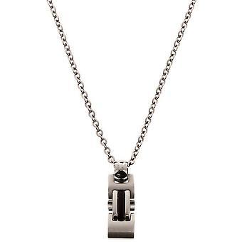 Collar y colgante de trinquete P034080 - collar y colgante Cha no hombre gris