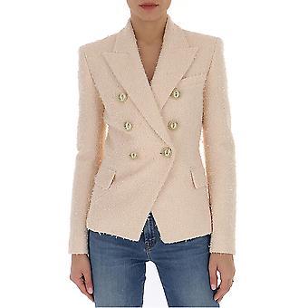 Balmain Tf17110x3194ad Women's Pink Cotton Blazer