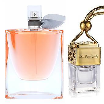 Lancome La Vi Es Belle für ihren inspirierten Duft 8ml Gold Deckel Flasche hängenAuto Auto Auto Air Freshener