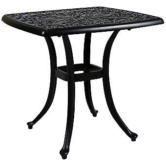 Charles Bentley gjuten aluminium svart sido bord uteplats vid poolen trädgårds möbler