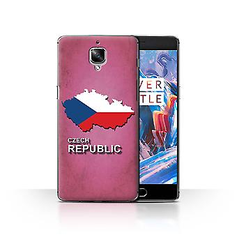 STUFF4 Case/Cover for OnePlus 3/3T/Czech/Czechian/Flag Nations