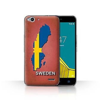 STUFF4 Case/Cover for Vodafone Smart Ultra 6/Sweden/Swedish/Flag Nations