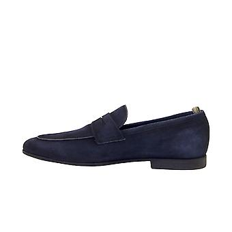 Officine Creative Byron001 Men's Blue Suede Loafers