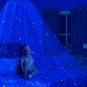 Stars Glow In The Dark Kids Mosquito Net Bed Canopy
