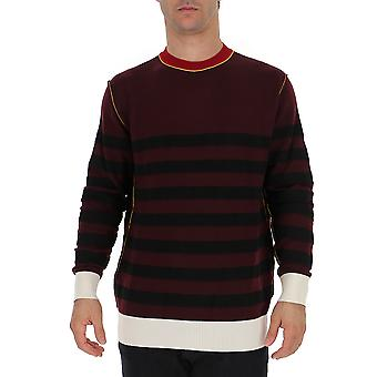 Marni Gcmg0086q0s16851rgr97 Men's Burgundy Wool Sweater