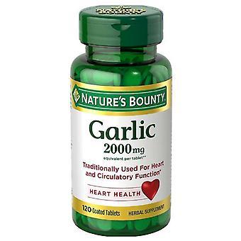 Nature's bounty garlic, 2000 mg, coated tablets, 120 ea