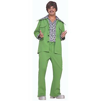 Lazer terno verde 1970 1960 discoteca hippie hippy retro adulto Mens costume STD