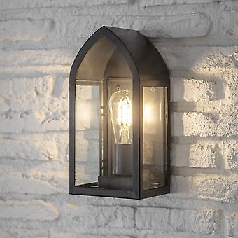 Garden Trading Fairford Linterna de pared exterior en negro de carbono