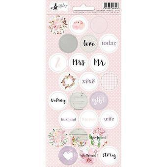 Piatek13 - Folha de adesivo Amor em Bloom 03 P13-256 10.5x23 cm