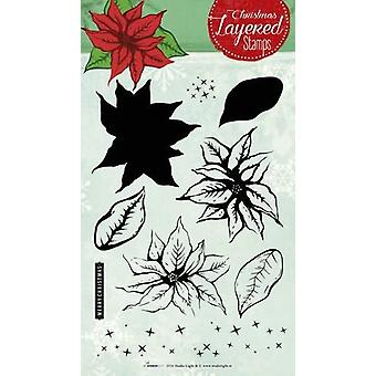 Studio Light Layered Clearstempel Navidad A5 nr 09 STAMPLS09