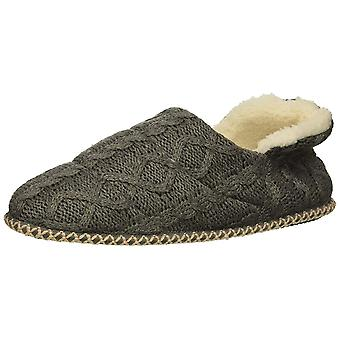 Dearfoams Women's Quilted Cable Knit Bootie Slipper