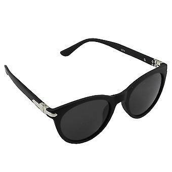 Sunglasses Ladies Polaroid Wayfarer - Black Mat with free brillenkokerS374_4