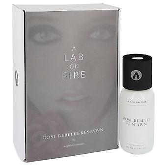 Rose Rebelle Respawn Eau De Toilette Spray av ett labb på brand 2 oz Eau De Toilette Spray