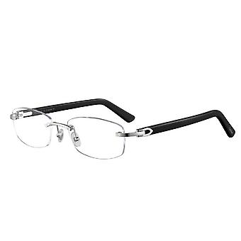 Cartier Canazei CT0048O 003 Silver-Black Glasses