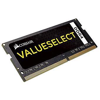 16 جيجابايت (1x16GB) قيمة الاختيار SO-DIMM قرصان DDR4، PC4-17000 (2133)، ECC غير المخزنة مؤقتا، CAS 15-15-15-36، PCB أسود، 1.2 V