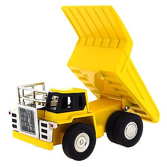 Miniature Techno Novelty Yellow Tipping Truck Ornamental Collectors Clock 0151