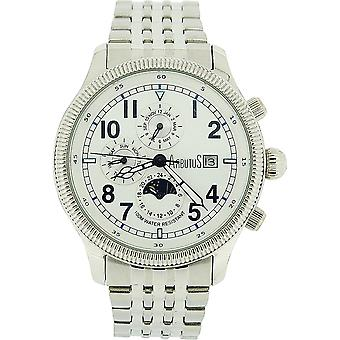 Arbutus Gents Automatic Day Date Month & 24 Hour All Stainless Steel Watch AR510