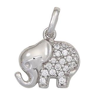الاطفال قلادة الفيل 925 الفضة الاسترليني مع قلادة الاطفال Zirconia
