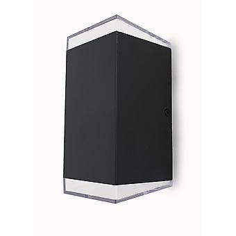 Led wall lamp outdoor wall lamp Jonah black UpDown 2x3 W 3000K 10833