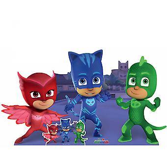PJ Masks Group Pose with Catboy Gekko Owlette Lifesize Cardboard Cutout / Standee