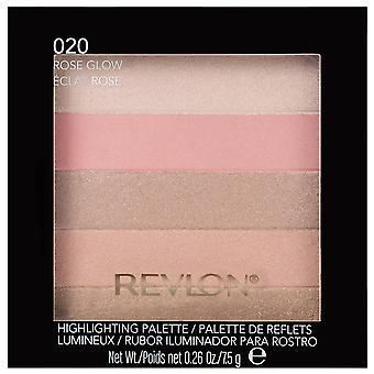 Revlon palet Rose gloed 020, 7,5 g {2 Pack} markeren