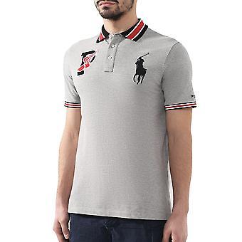 Ralph Lauren Ezcr012010 Men's Grey Cotton Polo Shirt