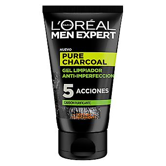 Facial Cleansing Gel Pure Charcoal L'Oreal Make Up (100 ml)