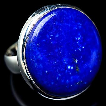 Huge Lapis Lazuli Ring Size 9.75 (925 Sterling Silver)  - Handmade Boho Vintage Jewelry RING5860