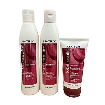 Matrix Gesamtergebnisse Shampoo & Conditioner 10.1 OZ & Blowout Tamer 5.1 oz set