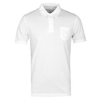 Sunspel White Riviera Short Sleeve Polo Shirt
