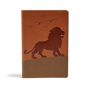 KJV One Big Story Bible - Brown Lion LeatherTouch by Holman Bible Pub