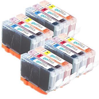 4 Compatible Sets of 3 C/M/Y Canon CLI-8 Printer Ink Cartridges (Colour Set)