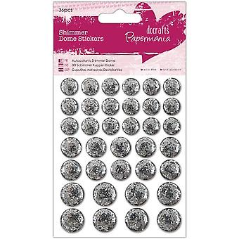 Papermania Shimmer Dome Stickers (36pcs) - Silver (PMA 805915)