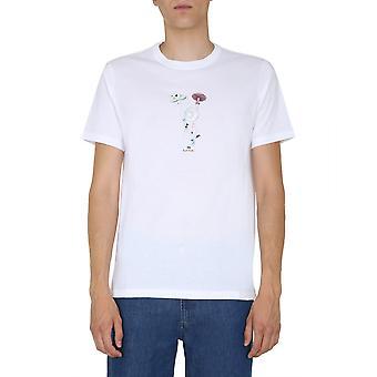 Ps Door Paul Smith M2r011rep215101 Men's White Cotton T-shirt