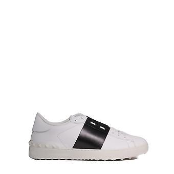 Valentino Garavani Uy2s0830flrdr0 Heren's Witte Leren Sneakers