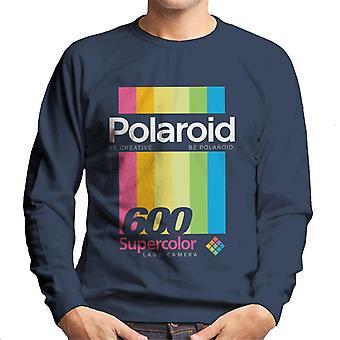 Polaroid 600 Supercolour Stripes Homme-apos;s Sweatshirt