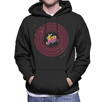 Jem And The Holograms Musical Clef Note Men's Hooded Sweatshirt