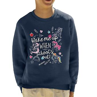My Little Pony Wake Me Up When Schools Out Kid's Sweatshirt