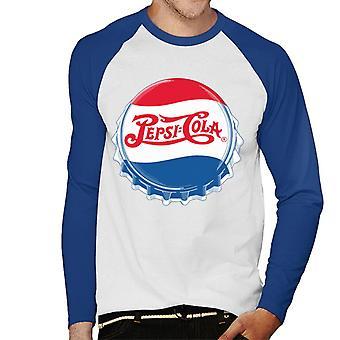 Pepsi Cola 1945 retro Bottlecap mannen honkbal lange mouwen T-shirt