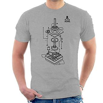 Atari Remote Control Schematic Black Men es T-Shirt