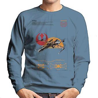 Star Wars X Wing Starfighter Orthographic Men's Sweatshirt