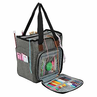 Portable Yarn Storage Knitting Bag Tote For Wool Crochet Hooks Knitting Needles Sewing Supplies DIY Household Organizer