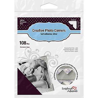 Scrapbook Adhesives Creative Photo Corners Silver (108pcs) (01627)