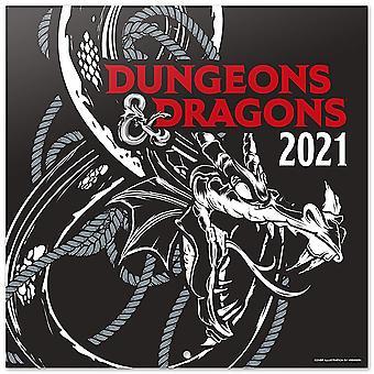Dungeons & Dragons 2021 Calendar Official Calendar 2021, 12 months, original English version.