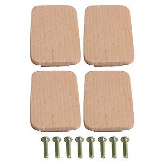 4pcs Door Knob Cabinet Wardrobe Pull Handles 32mm