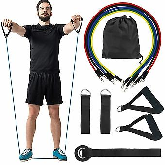 11pcs/Set Multi-Purpose Fitness Gummi Resistance Loop Set