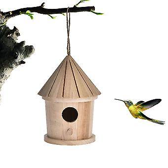 Ξύλινο κρεμώντας σπίτι/κλουβί πουλιών - ξύλινος τοίχος τοποθετημένος υπαίθριος τόπος ανάπαυσης