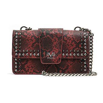 Red italia snake print crossbody bag - p07_red 19v69 italia