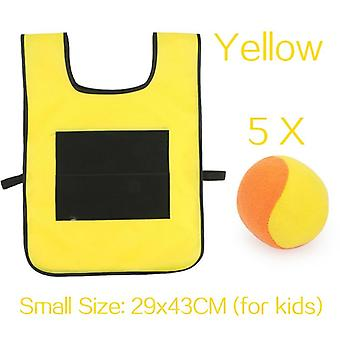 Kids Outdoor Sport Vest Sticky Jersey Vest Game Vest Waistcoat With Sticky Ball Throwing Toys For Children Sports Toy