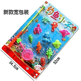 Magnetic Wood 3d Puzzle Kids Educational Fishing Fun Game Toys For Children Baby Gifts
